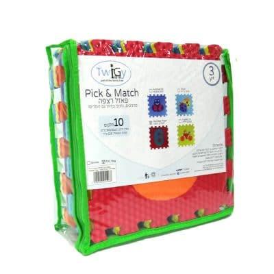 "פאזל רצפה 10 חלקים 30×30 ס""מ – Pick & Match – P.V.C"